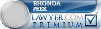 Rhonda A. Peek  Lawyer Badge