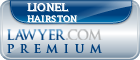 Lionel Hairston  Lawyer Badge