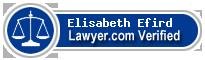 Elisabeth Deirdre Efird  Lawyer Badge