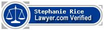 Stephanie R. Rice  Lawyer Badge