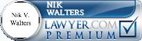 Nik V. Walters  Lawyer Badge