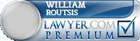 William John Routsis  Lawyer Badge