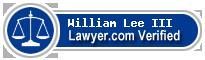 William A. Lee III  Lawyer Badge
