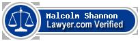 Malcolm Lloyd Shannon  Lawyer Badge