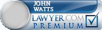 John Dunlap Watts  Lawyer Badge