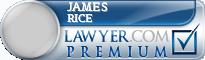 James Edwin Rice  Lawyer Badge