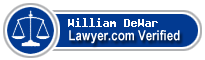 William D. DeWar  Lawyer Badge
