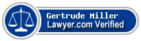 Gertrude Ruth Miller  Lawyer Badge