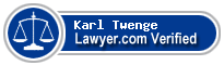 Karl D. Twenge  Lawyer Badge