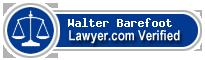 Walter Hilton Barefoot  Lawyer Badge