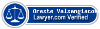 Oreste V. Valsangiacomo  Lawyer Badge