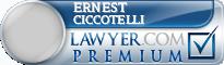 Ernest J. Ciccotelli  Lawyer Badge