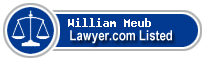 William Meub Lawyer Badge