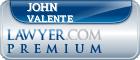 John William Valente  Lawyer Badge