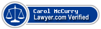 Carol Annette McCurry  Lawyer Badge