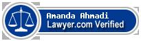 Amanda Ahmadi  Lawyer Badge