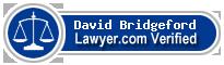 David W. Bridgeford  Lawyer Badge