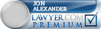 Jon Thomas Alexander  Lawyer Badge