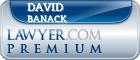 David Xavier Banack  Lawyer Badge