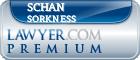 Schan E Sorkness  Lawyer Badge