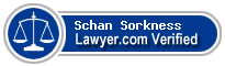 Schan E Sorkness  Lawyer Badge