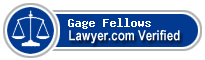 Gage J. Fellows  Lawyer Badge