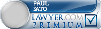 Paul H. Sato  Lawyer Badge
