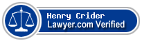 Henry Grove Crider  Lawyer Badge