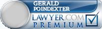 Gerald Glenn Poindexter  Lawyer Badge