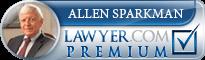 Allen Sparkman  Lawyer Badge