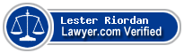 Lester E. Riordan  Lawyer Badge