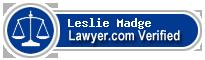 Leslie Sleeper Madge  Lawyer Badge
