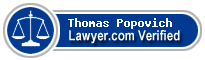 Thomas J. Popovich  Lawyer Badge