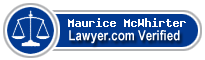 Maurice J McWhirter  Lawyer Badge