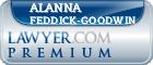 Alanna J. Feddick-Goodwin  Lawyer Badge