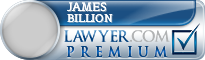 James A. Billion  Lawyer Badge