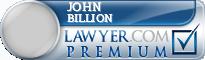 John H. Billion  Lawyer Badge