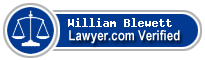 William Blewett  Lawyer Badge