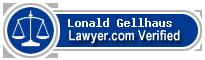 Lonald L. Gellhaus  Lawyer Badge