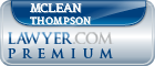 McLean A. Thompson  Lawyer Badge