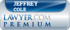 Jeffrey A. Cole  Lawyer Badge