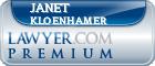 Janet Sharon Kloenhamer  Lawyer Badge