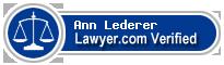 Ann Ellen Lederer  Lawyer Badge