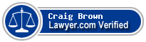 Craig Daniel Brown  Lawyer Badge