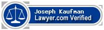 Joseph Quincy Kaufman  Lawyer Badge