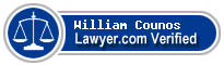 William Thomas Counos  Lawyer Badge