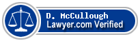 D Patrick McCullough  Lawyer Badge
