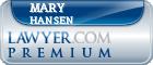 Mary Kay Hansen  Lawyer Badge