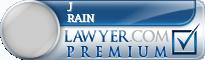 J Russell Rain  Lawyer Badge