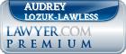 Audrey Lynn Lozuk-Lawless  Lawyer Badge
